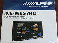 "ALPINE INE-W957HD INDASH 7"" LCD TOUCH SCREEN PANDORA/BLUETOOTH/CD/DVD/NAVIGATION"