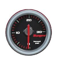 Sunpro 2 Inch Mechanical Boost Gauge 0 - 30 Psi Black / Aluminum Bezel Cp7025