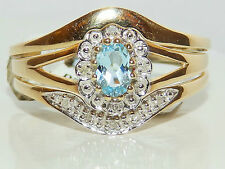 9Carat Yellow Gold Oval Solitaire Fine Diamond Rings