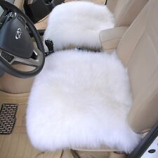 "18""×18"" Natural Pelt Sheepskin Long Wool Car Seat Covers Chair Cushion Mat Pad"