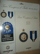 MEDAGLIA N°2 INTER CAMPIONE D'ITALIA 2006 2007 MARCO MATERAZZI + PORTA MONETE
