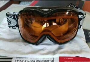 New Oakley Stockholm Goggles womens snow jet black persimmon