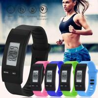 Run Watches Bracelet Pedometer Calorie Counter Digital LCD Walking Distance