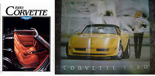 1980 CHEVROLET CORVETTE US 12 Page Brochure Folder Opens to Stunning Poster
