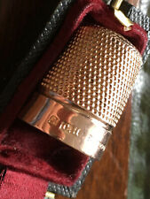 More details for solid 9ct rose gold thimble - 1923 charles horner in case - 7.1g - free post.
