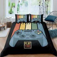 Gamer 3PCS Bedding Set Boys Video Game Duvet Cover Pillowcases Comforter Cover