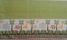 Nursery cute animals elephant and giraffe border with green Valance