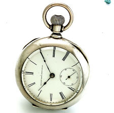 Antique Elgin Pocket Watch   7 Jewel 18 Size Coin Silver Case Ca1885