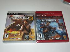 Sony Playstation 3 PS3 - Lot of 2 Uncharted Games