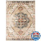 Allure Beige/Gold 5 Ft. 1 In. X 7 Ft. 6 In. Classic Medallion Area Rug