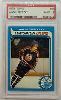 1979 Topps Wayne Gretzky Rookie Card #18, PSA 8. Stunner