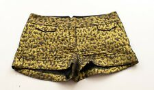 Express Gold Metallic High Waist Shorts Size 6