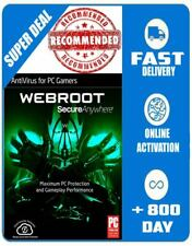 Webroot AntiVirus for Gamers license key 🔑 +800 Days 😎 Emailed ✅ For 3PC