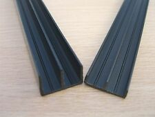 1.2m VIVARIUM 6mm glass RUNNERS for 4ft wide vivs top + bottom BLACK VIV BITS