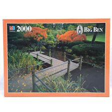 Super Big Ben 2000 Piece Puzzle Japanese Garden 1997 Milton Bradley New