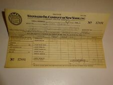original 1933 Standard Oil Company of New York SOCONY Invoice Receipt 17891 Gas