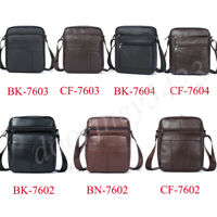 Men's Genuine Leather Cross Body Messenger Shoulder Bag Casual Small Hand Bags