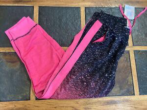NWT LulaRoe BCA Jax Joggers pants XL ombre pink/black