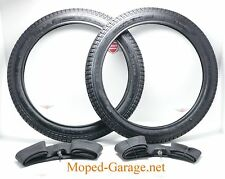 Piaggio Vespa Ciao Mofa Moped Reifen + Schlauch Satz 2 x 17 Zoll , 21 x 2 Neu