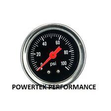 Fuel Pressure Gauge Glycerine /  Filled For FPR Regulator Rail Pump etc 1/8 npt