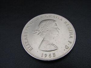 W Churchill Crown 1965 50th Anniversary x 2 Coins Coin