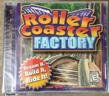 Roller Coaster Factory PC Software, Windows 95/98, Brand New in Jewel Case