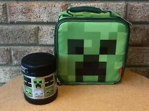 MINECRAFT Cube Insulated Lunch Box➕Funtainer Food Jar Deluxe