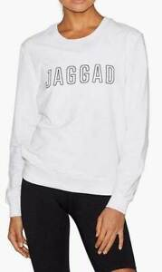 Jaggad Ladies Classic Keyline Sweater Crew Sweatshirt Pullover Jumper Tops S/10