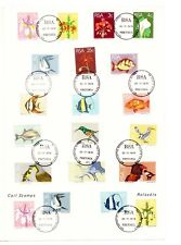 South Africa 1974 Flowers Fishes & Birds, FDI Sheet 20 Used Stamps #SA23