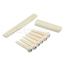 1 Set Acoustic Guitar Plastic Bridge Pins End Pin Saddles Nut Parts Replacement