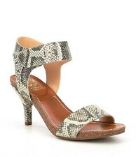 Vince Camuto Olinsa Natural Gold Metallic Snake Leather Cork Trimmed Sandal 7.5