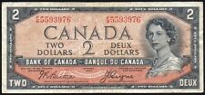 Canada $2 Dollars 1954 (P-67b/BC-30b) Devil's Face Note