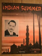 INDIAN SUMMER GERALDO ARTIST SHEET MUSIC RETRO VINTAGE ART CAFE RESTAURANT BAR