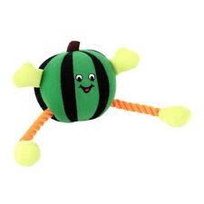 Animate Green Humbug Ball Rope Dog Toy Squeaker | Medium Squeaky Fun Round Plush
