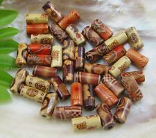 wholesale Mix 50pcs Painted Tube wood spacer beads 6X12mm