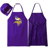 MINNESOTA VIKINGS APRON & CHEF'S HAT for BARBECUE GAME DAY TAILGATING NFL