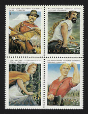Canada Stamps — Block of 4 — 1992, Canadian Folklore #1435a — MNH