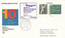 (06913) el aclaramiento Alemania Lufthansa 10 años Bucarest Munich Frankfurt 26 de agosto de 1977