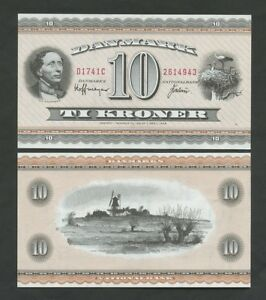 DENMARK  10 kroner  1974  P44ai  About Uncirculated