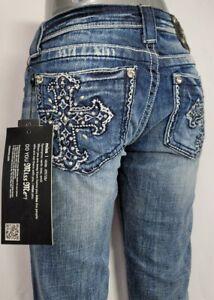 Miss Me Low Rise Slim Stretch Women's Denim Jeans 26 x 32 JP5345BV