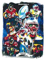 Super Bowl 51 Patriots Falcons NFL Football Sports Print Poster Wall Art 8.5x11