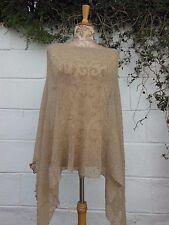 SHORT PONCHO SHRUG CAPE WRAP BNWT ONESIZE LAGENLOOK ETHNIC BOHO HIPPY ARTY
