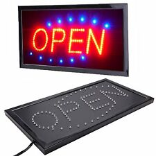 Bright LED Neon OPEN Shop Sign Light Display Sign Window Hanging with Chain UK