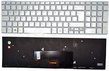 Sony Vaio SVF152C29M SVF15NE2E SVF152A29M SVF15A1M2ES Silver UK Backlit Keyboard
