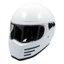 Bandit Fighter Casco de Cara Completa Moto Motocicleta-Blanco