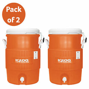 Igloo 5 Gallon Heavy Duty Beverage Water Cooler Dispenser Sport Work Party 2pack