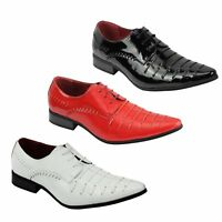 Mens Smart Formal Shiny Patent Leather Oxford Lace up Wedding Work Shoes UK Size