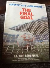 Coventry City Home Teams C-E Final Football Programmes