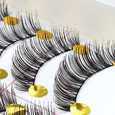 10Pairs Makeup Handmade Natural Long False Eyelashes Eye Lashes Bushed Black New