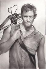 "The Walking Dead Daryl Dixon ART CHARCOAL DRAWING 10X15"""